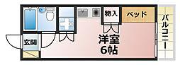 ドミトリー阪急六甲[3階]の間取り