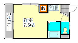 ドミールスズキ津田沼[206号室]の間取り