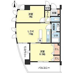 富士プラザ5[8階]の間取り