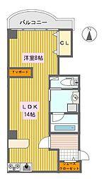 ヴェルコート折鶴[3階]の間取り