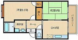 ファミリーズ21ハイツナカムラ1[2階]の間取り