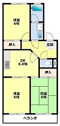 愛知県豊田市丸山町8丁目の賃貸アパートの間取り