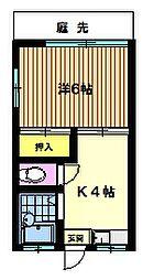 若竹荘 bt[101kk号室]の間取り