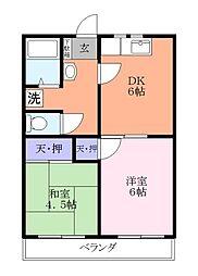 時田コーポ[3階]の間取り