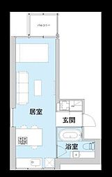 アクアプレイス大阪レジェンドII[6階]の間取り
