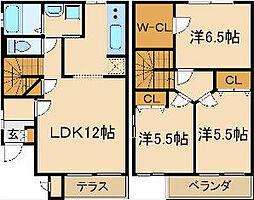 モンフレールI[2階]の間取り