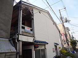 大阪府大阪市東住吉区湯里2丁目の賃貸アパートの外観