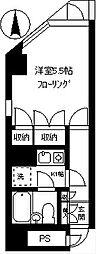 ロジェマン柿の木坂[303号室]の間取り