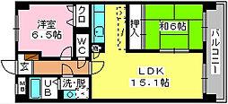 SOPHIA TOKUNAGA[602号室]の間取り