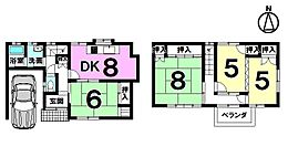 南向き。駐車1台可能です。全ての居室にたっぷりの収納スペース。ユニットバス・トイレはH25年に交換済です。