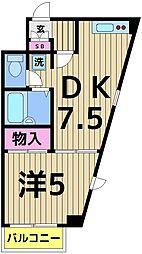 ライベスト関手屋[2-D号室]の間取り