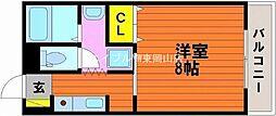 岡山県岡山市中区門田本町2丁目の賃貸マンションの間取り