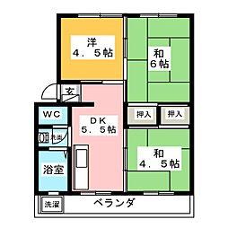 岡崎マンション[1階]の間取り