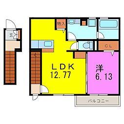 緑区 (仮称)D-room緑区緑花台[2階]の間取り