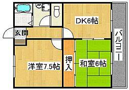 佐藤ビル[8階]の間取り