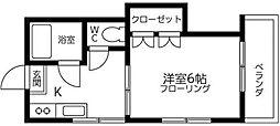 スリーエイト十条[1階]の間取り