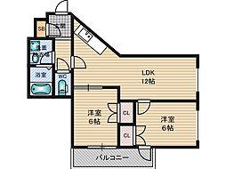 第3キャッスルハイツ[2階]の間取り