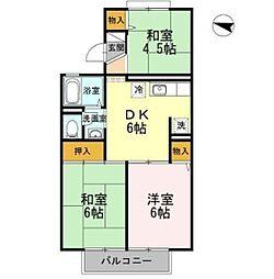ラ・フォ‐レ多摩平[1階]の間取り