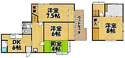[一戸建] 兵庫県宝塚市平井1丁目 の賃貸【/】の間取り
