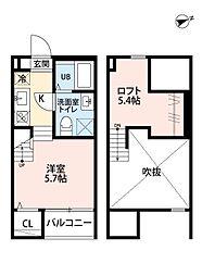 愛知県名古屋市南区呼続3丁目の賃貸アパートの間取り