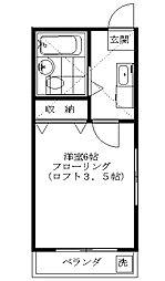 佐川コーポ[2階]の間取り