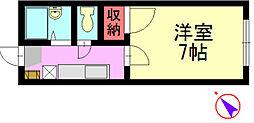 福岡県北九州市八幡西区浅川台3丁目の賃貸アパートの間取り