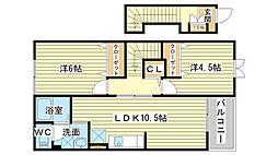 セイントチヒロ B[2階]の間取り
