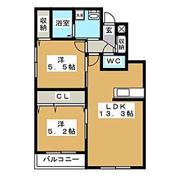 Casa Julia[5階]の間取り