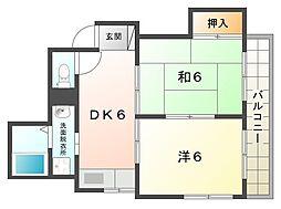 コーポ守口[2階]の間取り