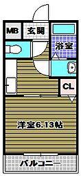 エステラグーナ七番館[1階]の間取り