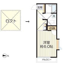 マ・ピエス生田7-A棟[205号室]の間取り