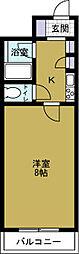 エレガンスシェル2[8階]の間取り