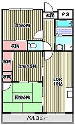 コーポ雅[4階]の間取り