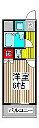 インプレストキワ[1階]の間取り