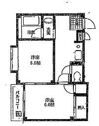 フォーチュネート[3階]の間取り