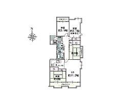 間取りは4LDK。各部屋に窓がございますので居室スペースはもちろん、湿気やにおいの気になる水回りスペースも快適に過ごせます。