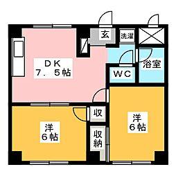 シティハイツ野田[1階]の間取り