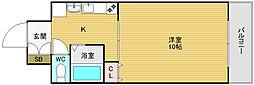 大阪府大阪市西区北堀江2丁目の賃貸マンションの間取り
