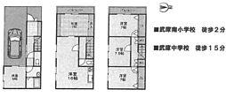 [一戸建] 兵庫県尼崎市武庫町2丁目 の賃貸【/】の間取り