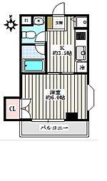 Casa千寿[1−A号室]の間取り