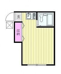 グリーンコーポ妙蓮寺[1階]の間取り