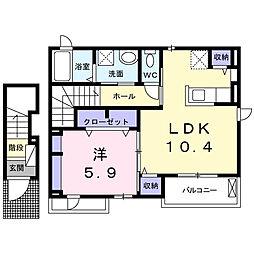 フローレスタ[2階]の間取り