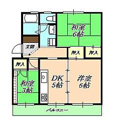 新多聞第二住宅[4階]の間取り