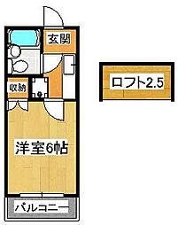 TOハイツ58[102号室]の間取り