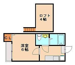 アンフィニ[2階]の間取り