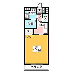 フォーブル鈴木2[1階]の間取り