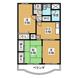 サンライズ田宗I2[1階]の間取り