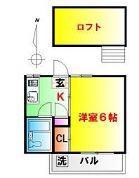 サントノーレ第12荻窪[201号室号室]の間取り