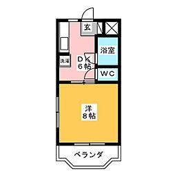 ボーネンK[4階]の間取り