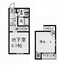愛知県名古屋市中村区草薙町2丁目の賃貸アパートの間取り